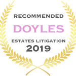 Jones van Otterdyk Lawyers are Recommended by Doyles for Estates Litigation 2019