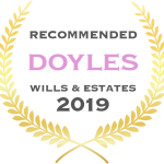 Jones van Otterdyk Lawyers are Recommended by Doyles for Wills & Estates 2019